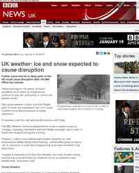 Snow and ice warnings issued for UK: BBC News