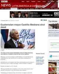 Guatemalan politician shot dead: BBC News